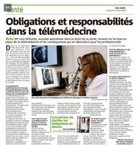 Article de Nice Matin - Obligations et responsabilités en télémédecine
